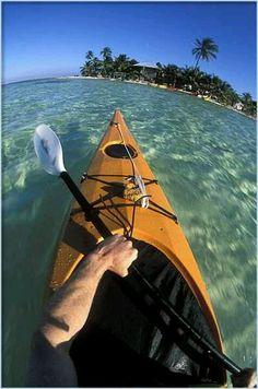 Kayaking in the Caribbean.