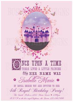 Princess Castle Birthday Invitation! by jenny