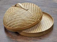 Woven bamboo tray and food cover from West Java. theartisanstablestore.com