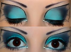 Vaporeon makeup so well done!