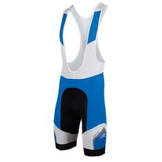 Cycling bib shorts Khrono in blue, by Bicycle Line Italy