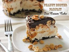 Peanut Buster Parfait Ice Cream Cake - this looks so delicious. I want it now.