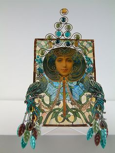 Art Nouveau Glass. They did love their peacocks in the Art Nouveau movement.