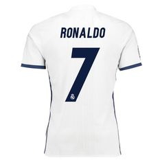 Men's Real Madrid Ronaldo Home FIFA World Cup Champions Patch Jersey - White - World Soccer Jersey Real Madrid Home Kit, Real Madrid Team, Ronaldo Real Madrid, Cristiano Ronaldo Jersey, Ronaldo Soccer, World Cup Champions, Uefa Champions League, Real Madrid Crest, Adidas Three Stripes