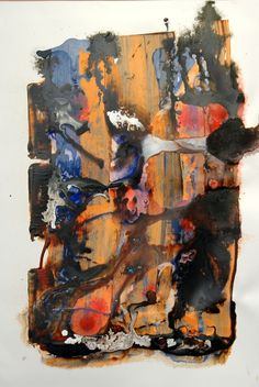 Abstract, mixed media, 19in. x 28in. TerraSkin, 11.12.2014, © Hugh S. Myers