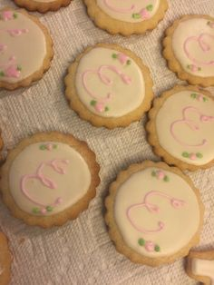 Baby girl monogram cookies