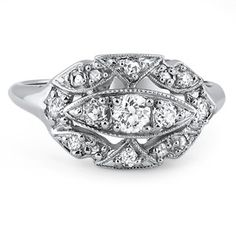 14K White Gold The Audrey Ring