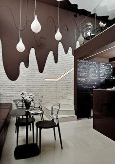 Cafe design ideas amazing restaurant bar interior design very small cafe design ideas . Design Shop, Coffee Shop Design, Cafe Design, Decoration Restaurant, Design Bar Restaurant, Restaurant Lounge, Restaurant Plan, Architecture Restaurant, Restaurant Lighting