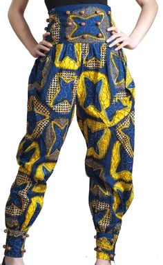 Top 23 African Harem Pants Styles 2018 - Reny styles Today we're dishing out 23 African Harem Pants Styles to Make Your Day, Something you charge to apperceive about Harem Pants is that, they are full, African Fashion Designers, African Inspired Fashion, African Dresses For Women, African Print Fashion, African Attire, African Wear, African Women, Kitenge, African Print Pants