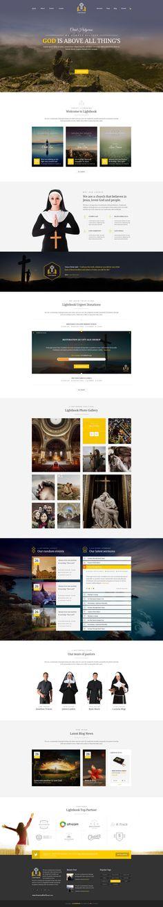 LightBook Church PSD template With the complete package you have a wide range of possibilities to design almost any kind of personal and professional web layouts. #churches #christian #God