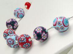 Statement Ketten - Märzbote Polymer Clay Lampwork Designer Kette Fimo - ein Designerstück von filigran-Design bei DaWanda