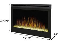 Enjoy the stunning effect created by this modern electric fireplace by Dimplex. Watch as the realistic flame effect appears to dance from the reflected glass crystal ember bed. Dimplex 33 Plug-In Electric Fireplace - DFG3033     http://www.electricfireplacescanada.ca/EFCA-Products-Accessories/plug-in-electric-fireplaces-CA/Dimplex-DFG3033-Plug-In-Electric-Fireplace