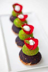 Resultado de imagen de plated desserts green