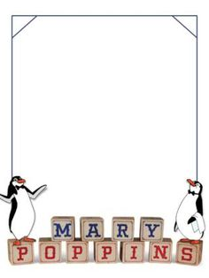 Journal Card - Mary Poppins - Penguins - 3x4 photo dis_297_Mary_Poppins_blocks.jpg