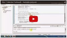JAVA EE: Java : Collection Framework : Hashtable (entryset)