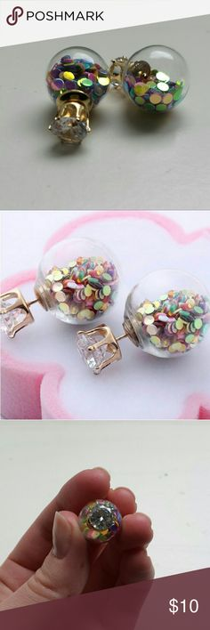 Confetti earrings New and super cute confetti earrings. Comes in a protective pouch. Nickel free Jewelry Earrings