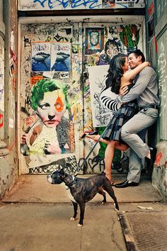 A shot from our engagement photos by Brian Dorsey Studios.  Our family on our street, doing our thing.  xoxo