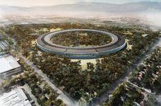 Veduta dall'alto dell'Apple Space Campus a #Cupertino, futuro headquarter della multinazionale americana. #Apple