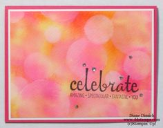 Stampin' Up! Bokeh Technique click here for a great tutorial #stampinup #ddstamps #rubberstamp