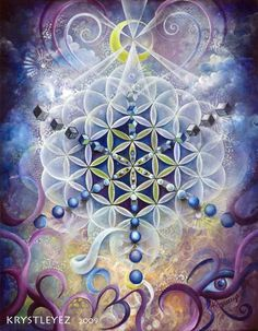 flower of life with cosmic connections! © Krystle Smith --> Great tools for light-workers.. Flower of Life T-Shirts, V-necks, Sweaters, Hoodies & More ONLY 13$ EACH! LIMITED TIME CLICK ON THE PICTURE