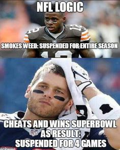 And then he & Belicheat & Kreepy Kraft got behind closed doors with the deciders of Crybaby Brady's final fate & did what they blew uh oops I mean do & the suspension was ejaculated uh I mean evacuated
