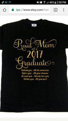 c9ffa0d65 2019 Graduation T Shirt, Graduation Shirt for Family, Proud Mom T ...