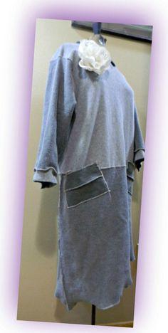 Upcycled Sweatshirt Dress/Eco Dress/Repurposed Clothing/X:L