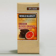 One of my favorite discoveries at WorldMarket.com: World Market® Blood Orange Milk Chocolate Bar, Set of 2