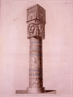 Portico Column, Dendera, Déscription de l'Égypte (1809-1822)