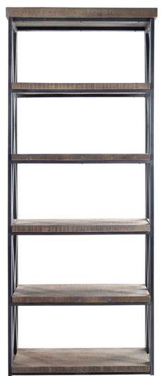 Een boekenkast geeft sfeer in een woonkamer en deze is prachtig stoer. Boekenkast Andalusia | #prontowonen #droomwoonkamer