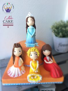 Baby Cake, friends, princesses Sugar Cake