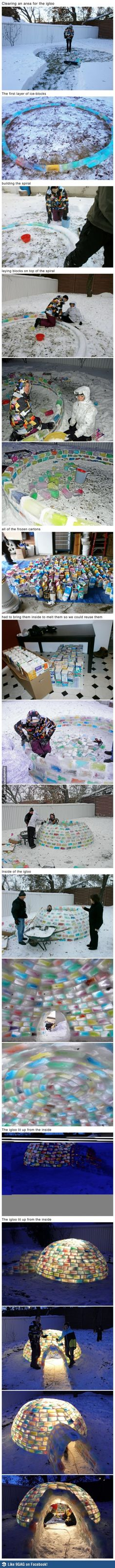 colorful igloo