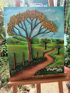 Pintura en realce Clay Wall Art, 3d Wall Art, Mural Art, Art 3d, Sculpture Painting, 3d Painting, Fabric Painting, Polymer Clay Painting, Polymer Clay Crafts