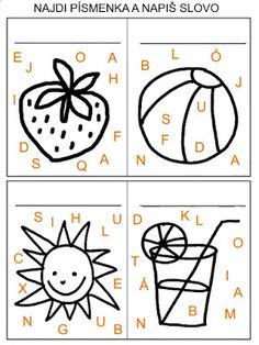 Pro Šíšu: Letní úkolky Alphabet, Kids Rugs, Education, School, Cards, Vision Therapy, Autism, Kids Learning, Kid Friendly Rugs