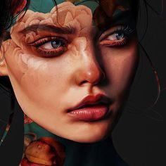 Boy Art, Art Girl, Aura Photo, Dope Cartoon Art, Face Profile, Scenery Wallpaper, Painter Artist, Close Up Portraits, Fantasy Artwork