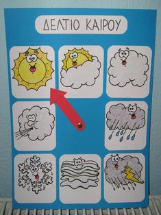 weather station for kids Grade 1, Preschool Crafts, Teacher, Comics, Basteln, Day Care, Weather, Professor