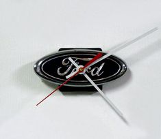 Ford Wall Clock - Recycled Ford Grille Emblem Clock