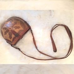 VINTAGE amazing HANDMADE coconut & coconut bag!! VINTAGE amazing HANDMADE coconut & coconut bag!! In good vintage condition! Some cracking as seen in the pictures. GREAT DETAIL ON THIS BAG! Vintage Bags Crossbody Bags
