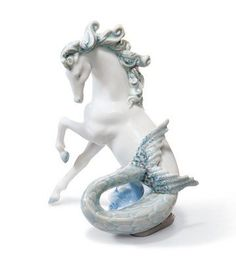 Lladro Triton I Porcelain Horse Mermaid.. #Lladro #Statue #Sculpture #Decor #Gift #gosstudio .★ We recommend Gift Shop: http://www.zazzle.com/vintagestylestudio ★