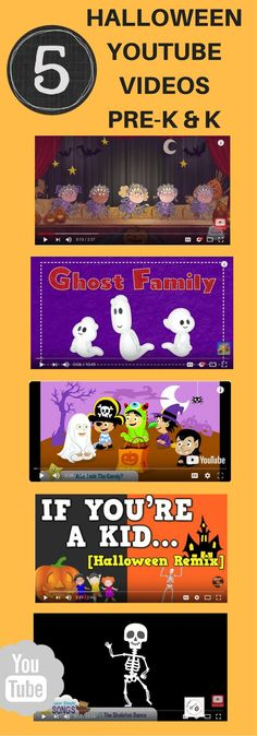 Blog post with links to 5 youtube Halloween songs/videos that can be used in the classroom and/or in language therapy!  Post includes follow-up activity ideas too!