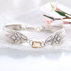 Vintage Spoon Bracelet - yesterdays Treasures upcycle - recycle by hand into new Treasures for today and tomorrow. RARE- La Ronnie Silver plate