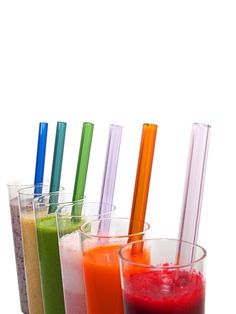 A colorful glass straw to match every color or fruit juice or smoothie! #F52Provisions