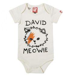 David Meowie Short Sleeve Bodysuit Rock Your Baby
