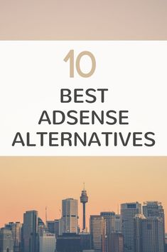 Top adsense alternatives here. There are many ad networks to monetize your blog with. These are the top 10 ad networks that isn't Google Adsense. Click here to learn more.