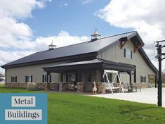 Pole barn house plans metal building homes metal barn homes pole barn h Metal Shop Building, Steel Building Homes, Building A House, Building Ideas, Morton Building Homes, Arch Building, Building Designs, Building Plans, Pole Barn House Plans
