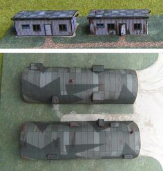 Wellblech Barracken And Corrugated Metal Barracks Paper Models In 1/72 And 1/144 Scales - by Happyscale