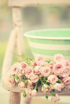 roses by lucia and mapp, via Flickr I have that bowl! Love it!