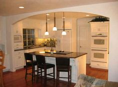 Remove wall between the kitchen and adjacent room: In order to maximize the flow of the kitchen to the rest of the home, an open-plan will make the most ...