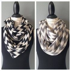 Enter to WIN one of these chevron infinity scarves from Three Little Birds via sweatthesweetstuff.com #giveaway #scarves #fashion #fall