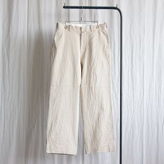 Chino Cloth Pants - wide #beige